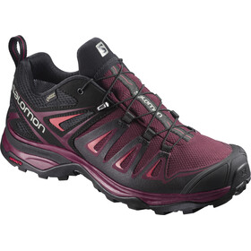Salomon X Ultra 3 GTX Zapatillas de senderismo Mujer, Tawny Port/Black/Living Coral